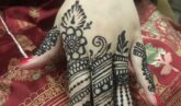 very detailed and delicate mehandi design